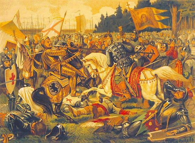 «Бой Александра Невского с ярлом Биргером» (картина А. Кившенко).