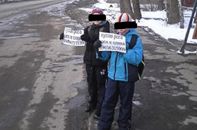 Ахунские дети включились в глупую игру с объявлениями о покупке рогов.