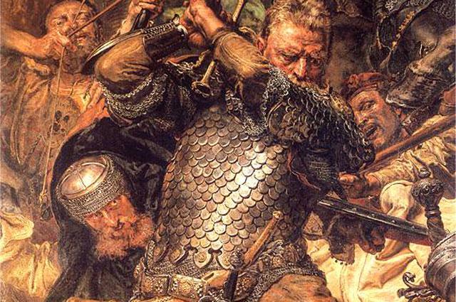 Ян Жижка. «Грюнвальдская битва» (фрагмент). Ян Матейко. 1878 год.