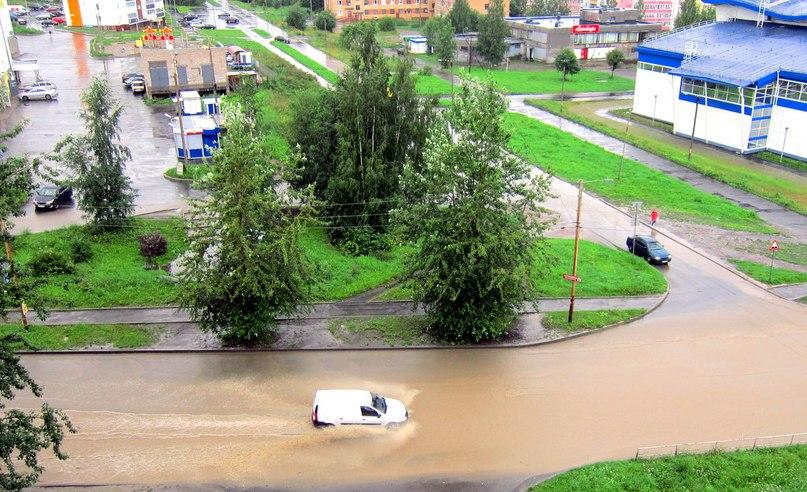 Петрозаводск: улицы залиты водой