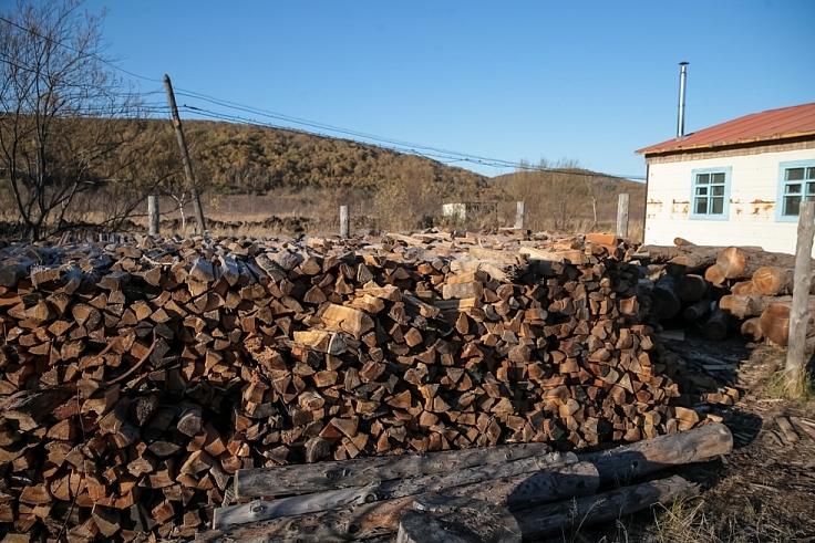 10 кубометров дров должно хватить на зиму