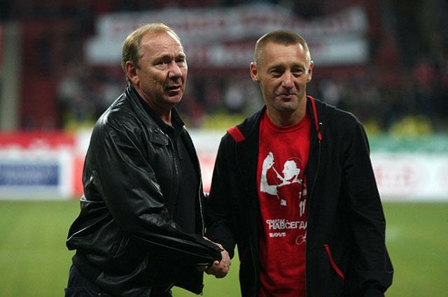 Олег Романцев и Андрей Тихонов.