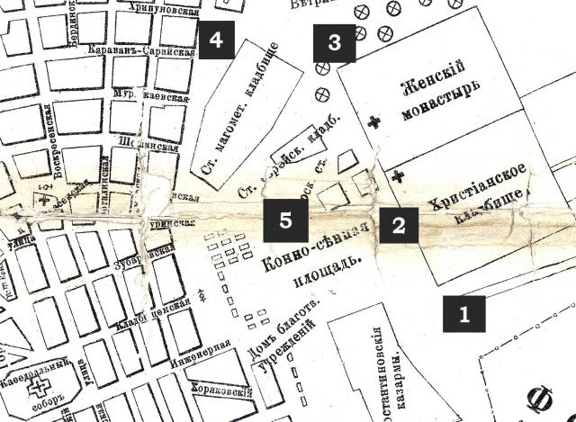 План кладбищ 1904 г.