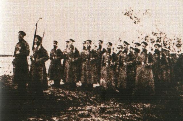 Сводно-Офицерский полк Добрармии выступает в Ледяной поход. Февраль 1918 г.