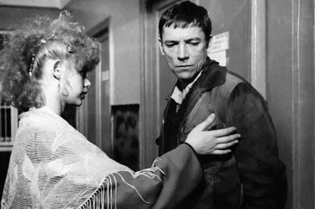 Ольга Машная  и Валерий Приемыхов на съемках фильма «Милый, дорогой, любимый, единственный». 1988 г.
