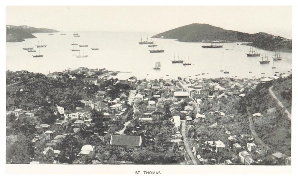 Гавань Сент-Томас и Шарлотта Амалия на острове Сент-Томас в Датской Вест-Индии. 1893 г.