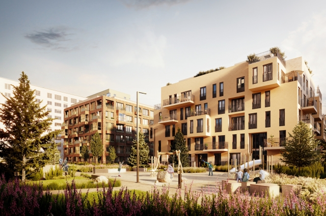 «Европейский» квартал в Тюмени, проект архитектуры и благоустройства