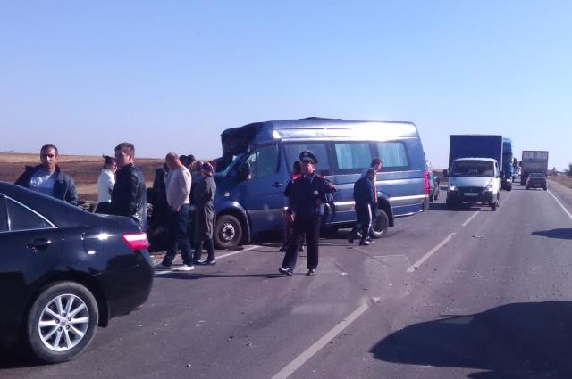 Авария на московской трассе.