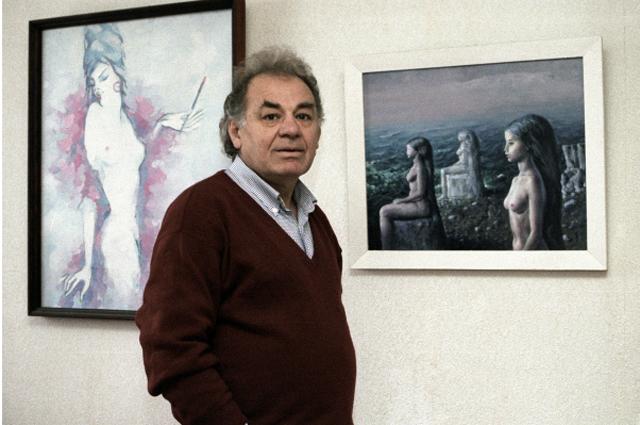 Кинорежиссер, народный артист РФ и Молдовы Эмиль Лотяну. 1997 год.