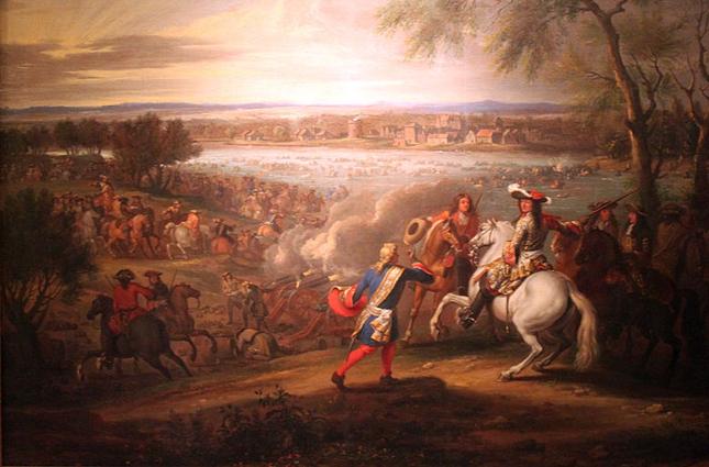 Людовик XIV пересекает Рейн 12 июня 1672 года.