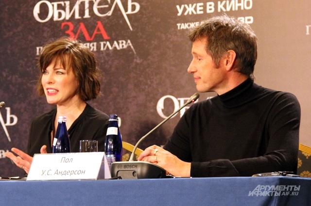 Милла Йовович и Пол Андерсон