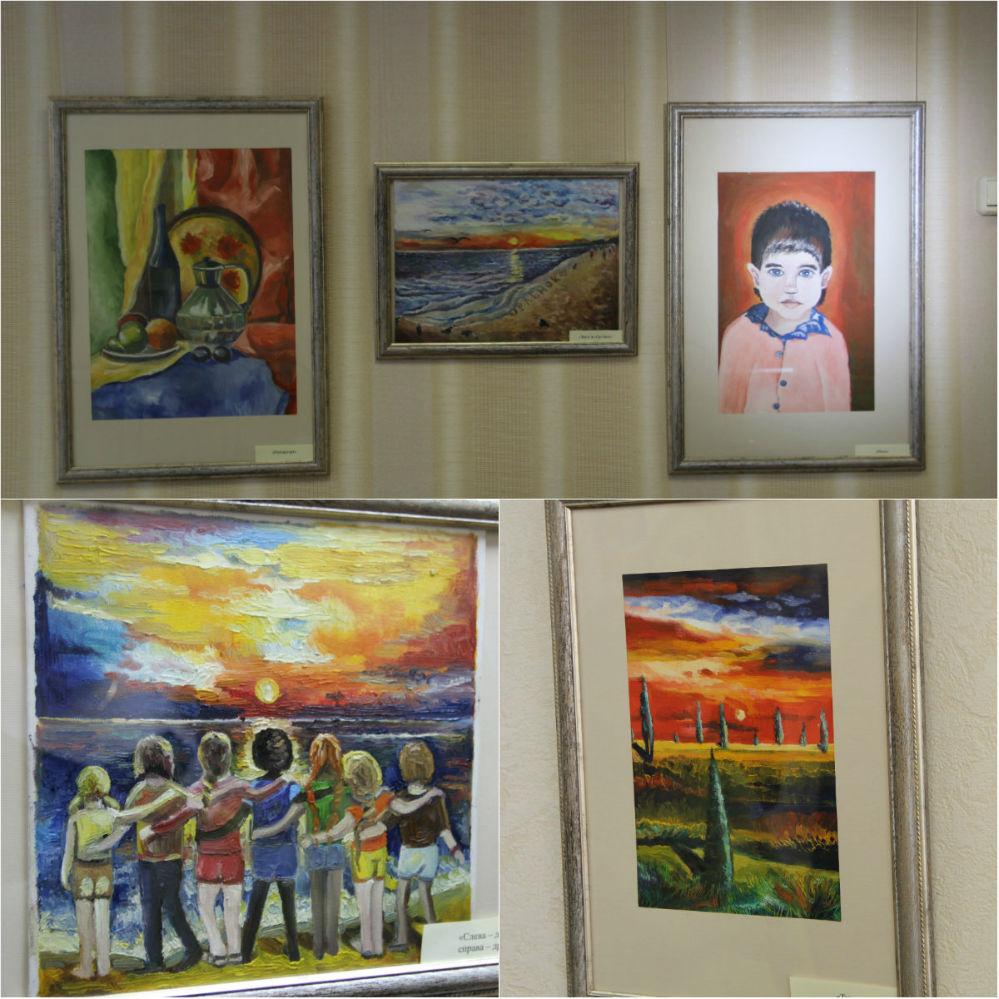 Жанры и техника, представленные на выставке, очень разнообразны.