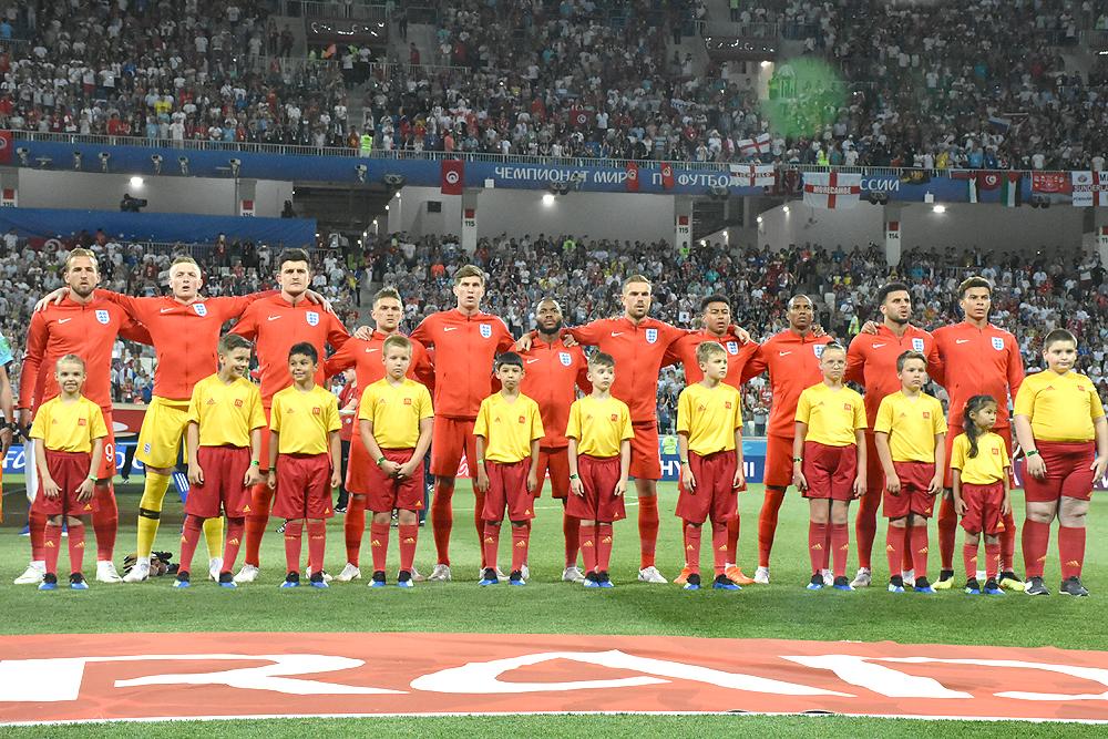 Сборная Англии на ЧМ-2018 по футболу в Волгограде.