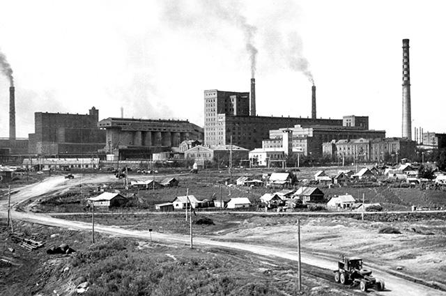 Стерлитамакский содовый завод. Середина 1960-х годов.