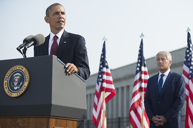 Президент США Барак Обама и Чак Хейгел
