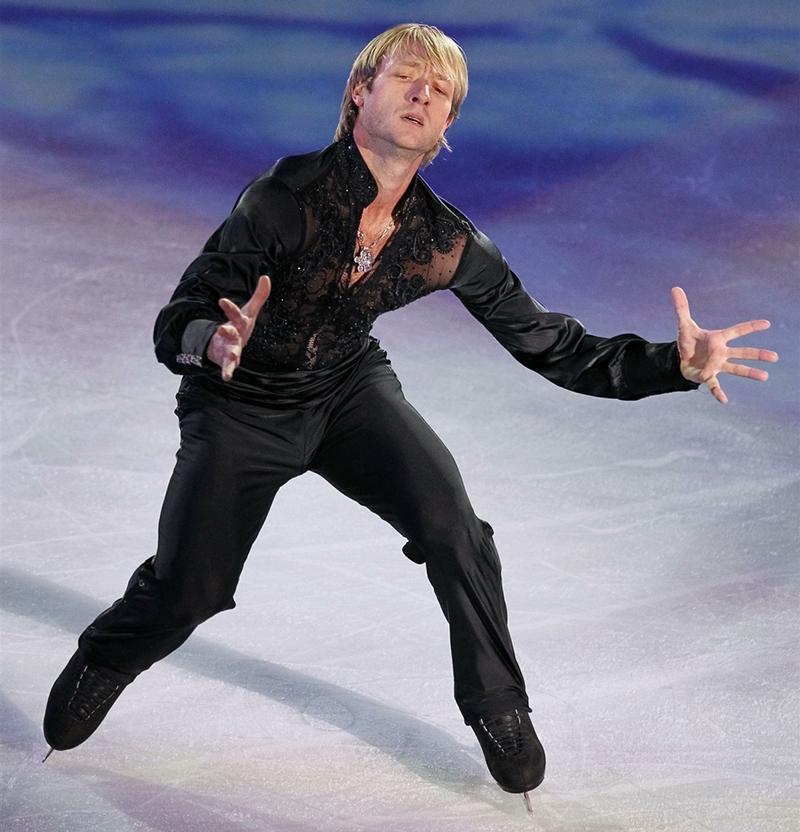 Евгений Плющенко на льду