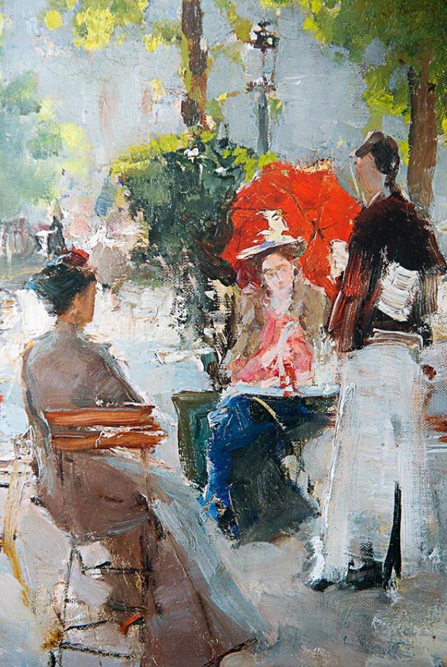 Картина «Парижское кафе». Третьяковская галерея.