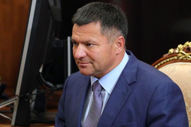 Временно исполняющий обязанности губернатора Приморского края Андрей Тарасенко во время встречи с президентом РФ Владимиром Путиным.