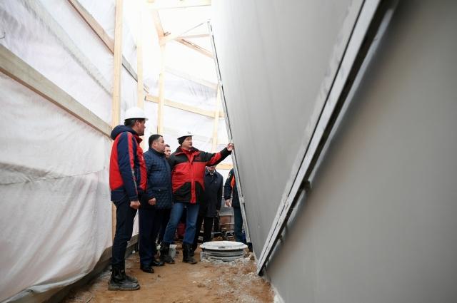 Губернатор Тверской области Игорь Руденя проверил работы по строительству меморила.