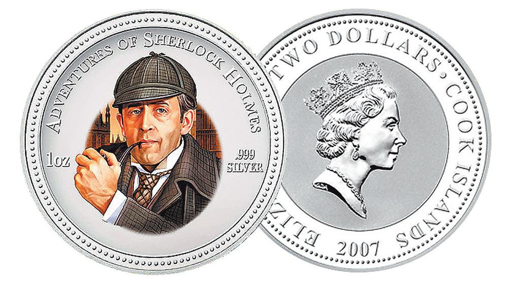Коллекционная монета 2007 г., выпущенная новозеландским каз- начейством. Монета имеет но- минал 2 долл. и сделана из серебра 999-й пробы.