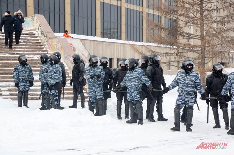 Протестующим дали 10 минут чтобы разойтись
