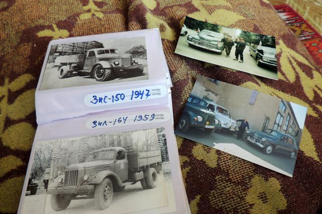 Полные альбомы снимков — машины из коллекции Петрова. Но «Победа» была любимицей
