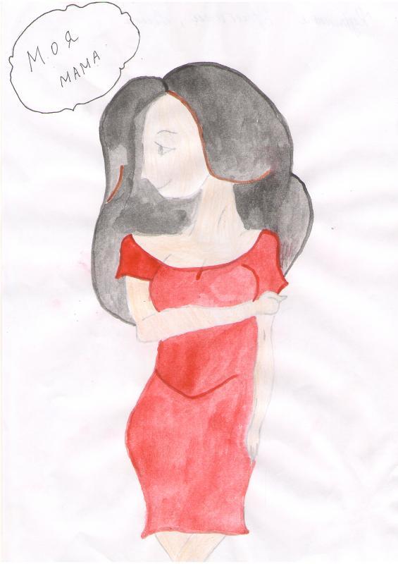 рисунки мам на конкурс