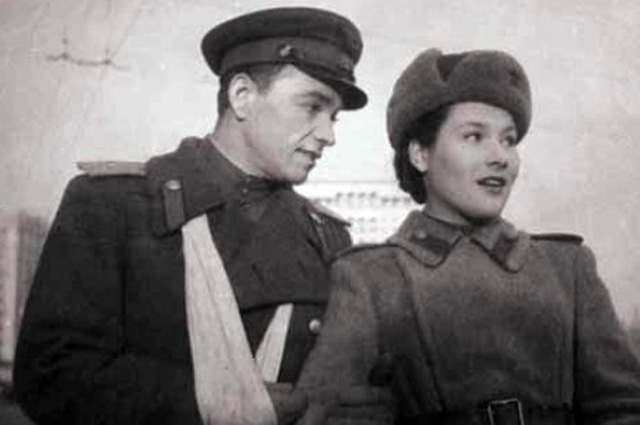 Нина Мазаева в фильме «Небо Москвы», 1944 год