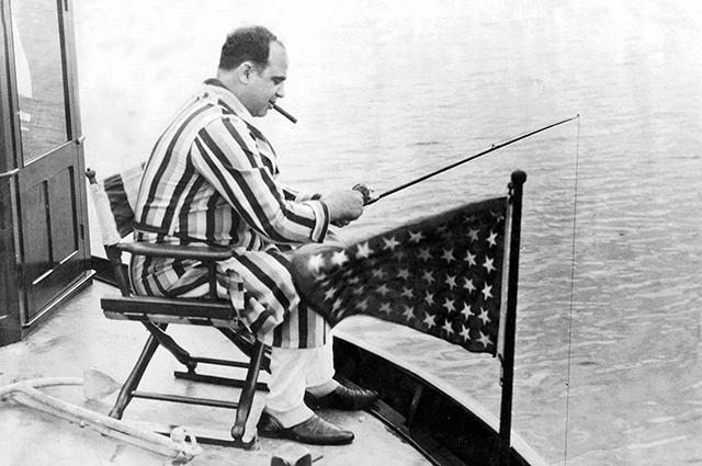 Аль Капоне на отдыхе, 1930 год