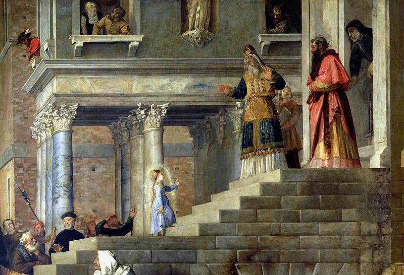«Введение Марии во храм», Галерея Академии, Венеция (1534—1538)