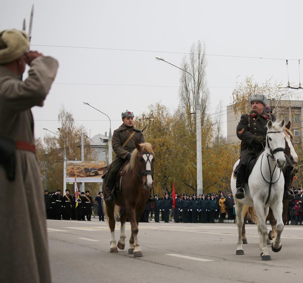 Реконструкция парада в Воронеже
