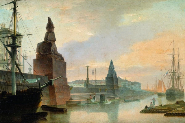 Воробьев М.Н. «Набережная Невы у Академии художеств» (1835 г.)