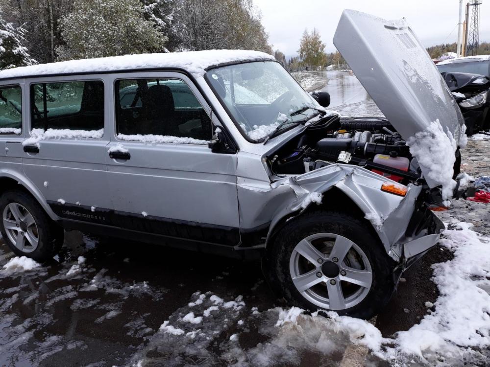 водитель за рулём Hyundai не выбрал безопасную скорость и выехал на встречную полосу, где врезался в «Ниву».