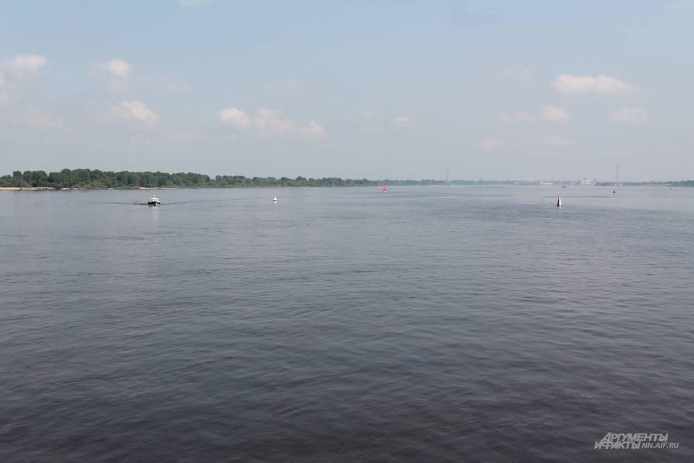 Вид на реку с нижегородской Стрелки.