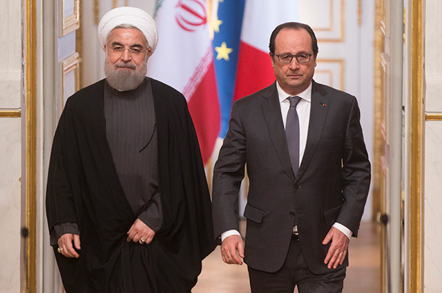 Хасан Роухани и Франсуа Олланд.