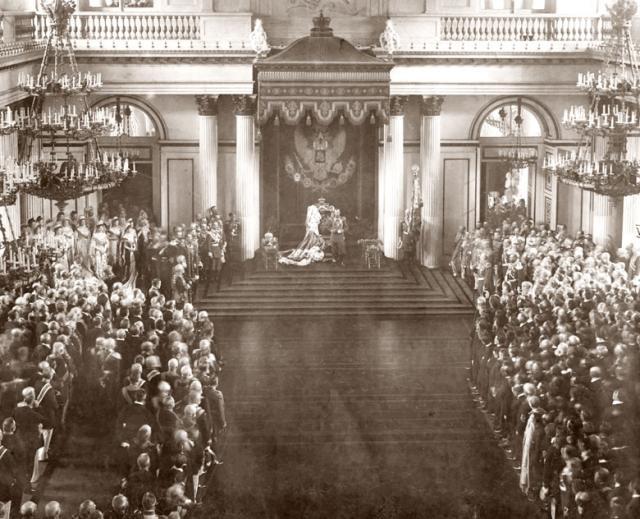 Торжественное открытие Государственной думы и Государственного совета. Зимний дворец. 27 апреля 1906.