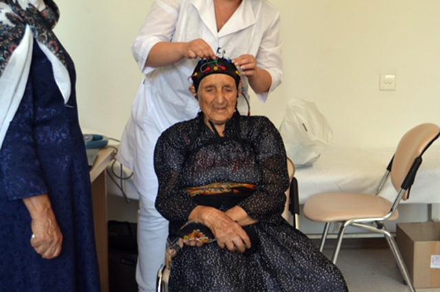 Старейший житель Азербайджана - 108-летняя Васма Мамедова.
