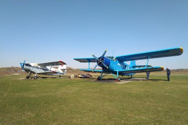 Спортивный лётный клуб в районе Семязино