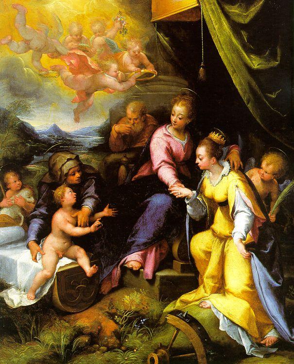 Денис Калверт. Мистическое обручение святой Екатерины Александрийской.