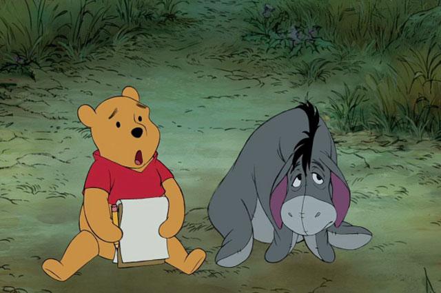 Слева направо: Винни Пух и ослик
