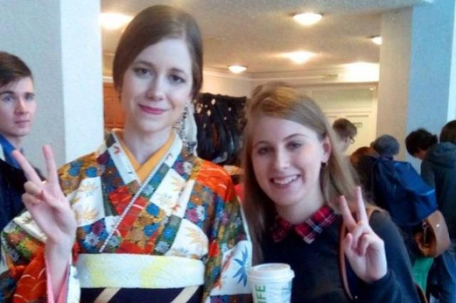 В кимоно на мероприятии.