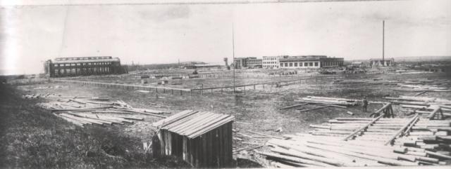 Панорама строительства завода «Красмаш».