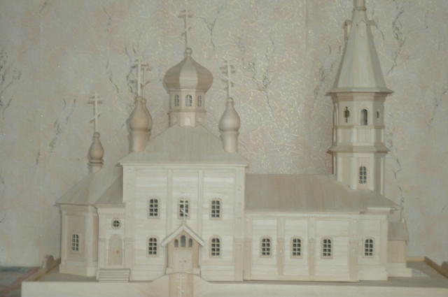 Макет Свято-Троицкого храма