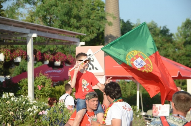 Португальские болельщики.