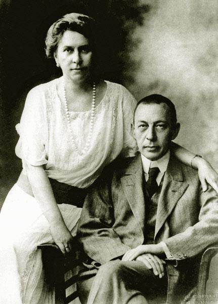 Сергей Рахманинов с женой. 1925 год, США