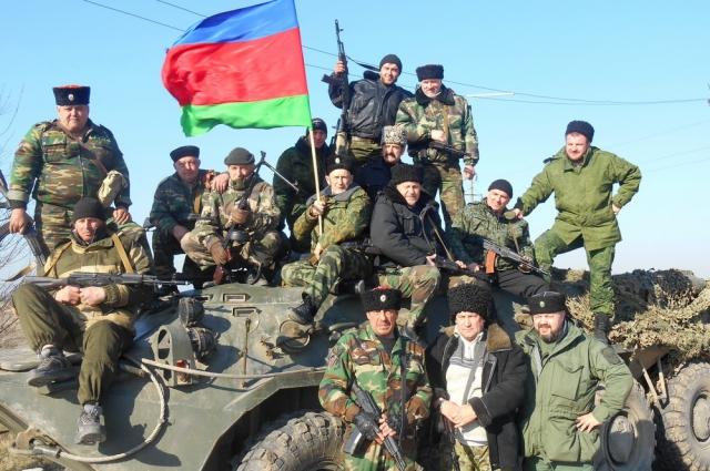 Кубанские казаки в Крыму во время событий 2014 года.
