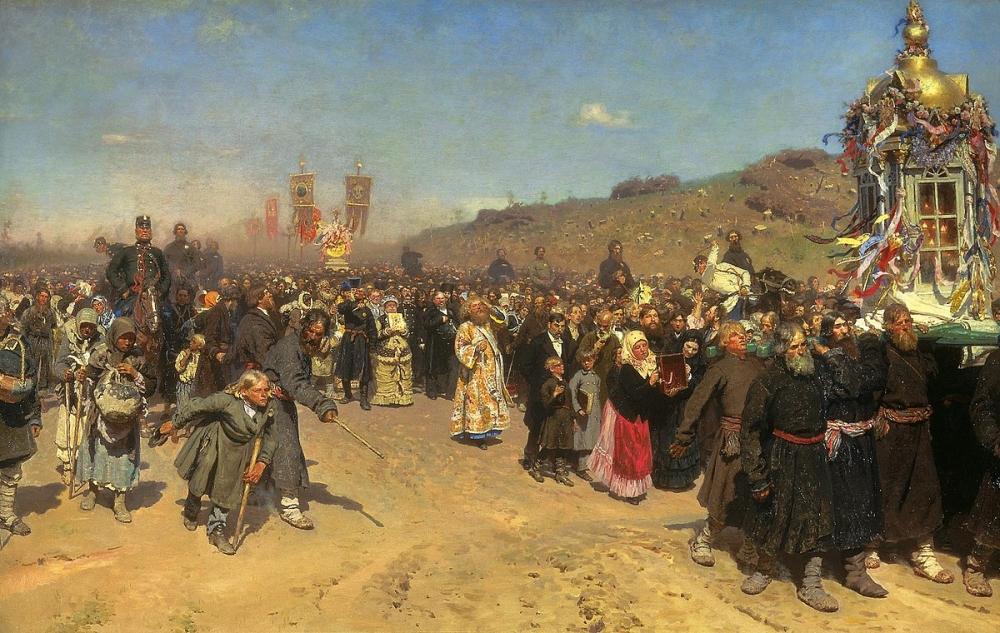 Илья Репин, «Крестный ход в Курской губернии». 1883