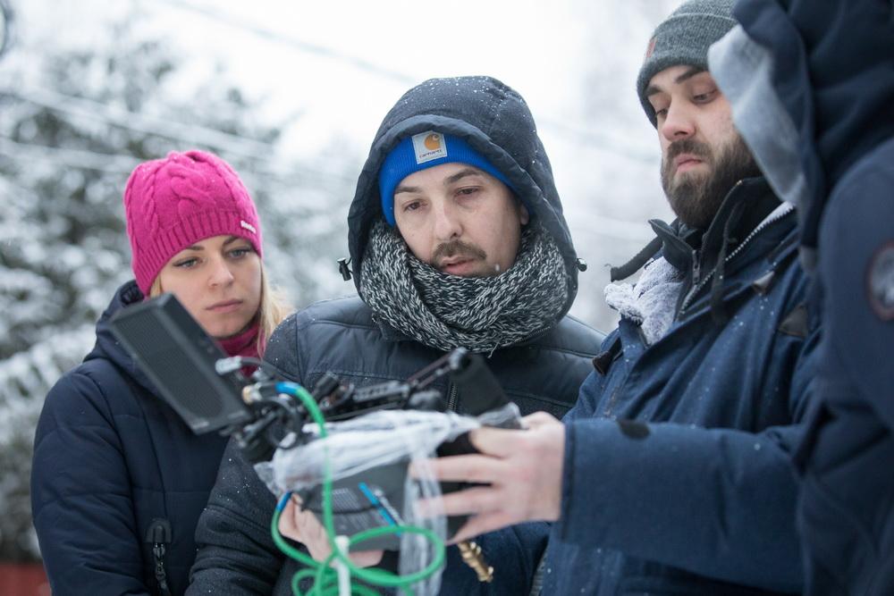 Евгений Шелякин на съёмках фильма.