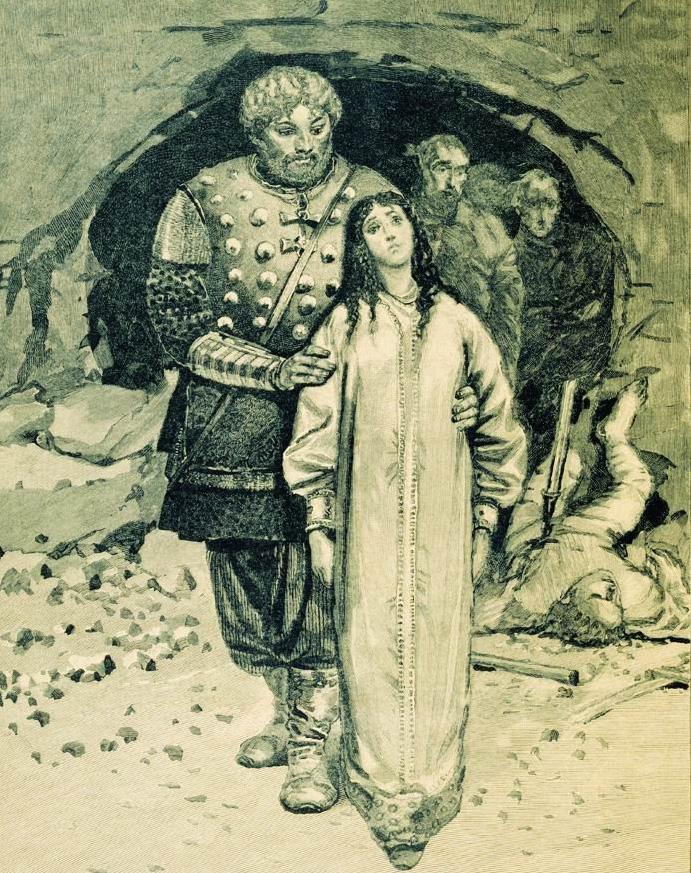 Добрыня Никитич . Иллюстрация Андрея Рябушкина к книге Русские былинные богатыри