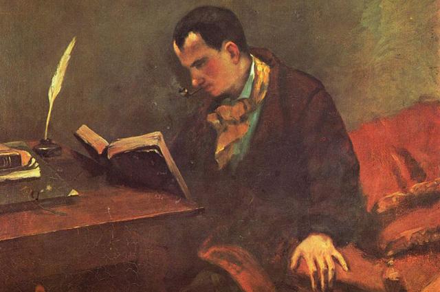 Портрет Шарля Бодлера кисти Гюстава Курбе. 1848 год.